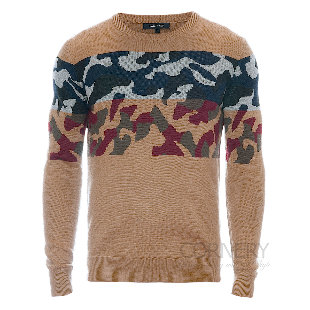 Свитера Cornery Sweater Brown Camo
